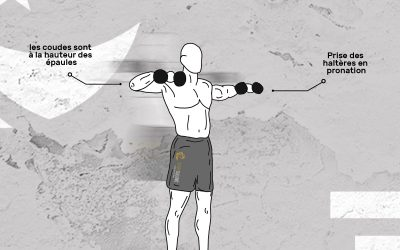 Rotation externe des épaules avec haltères